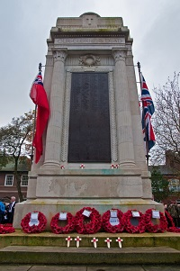 Leigh cenotaph on Remembrance Sunday 2011