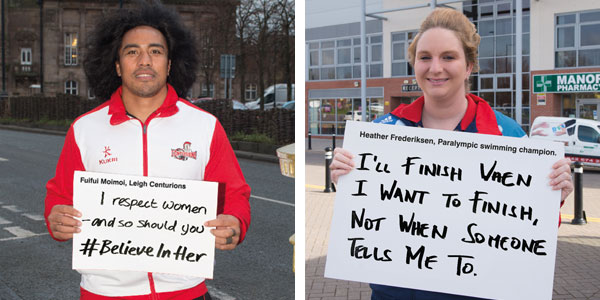 Fuifui and Heather pledge their support