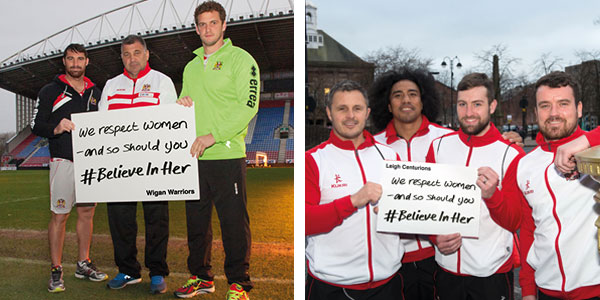 Wigan Warriors and Leigh Centurion pledge their support