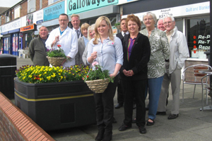 Aspull in Bloom working in partnership with local businesses