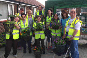 Orrell in Bloom – planting with local residents