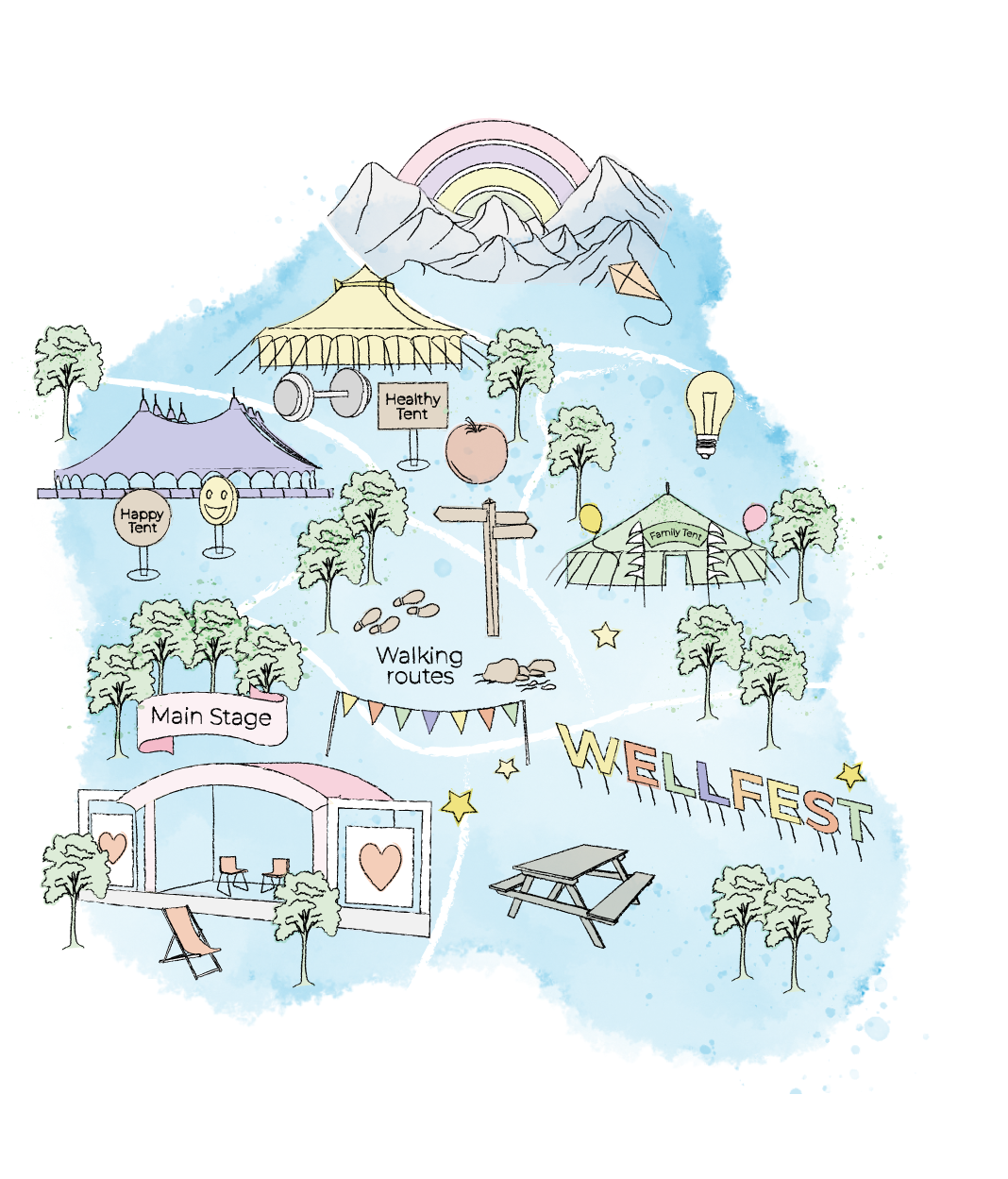 Wellfest 2020 Map