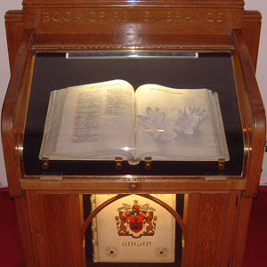 Book of remembrance at Wigan Crematorium