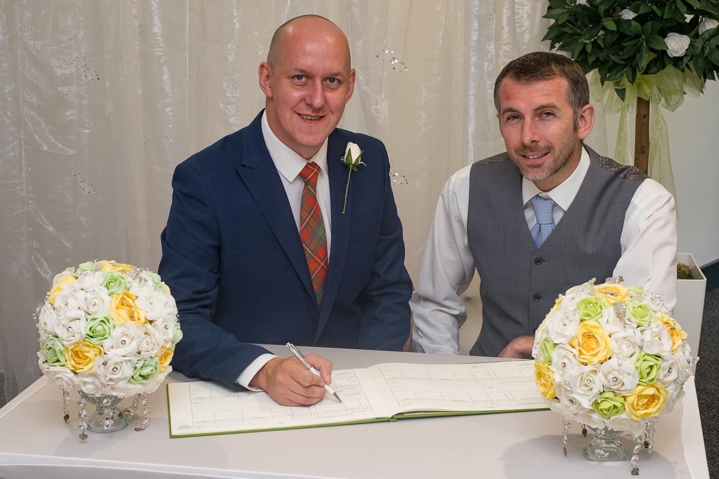 Wigan council wedding