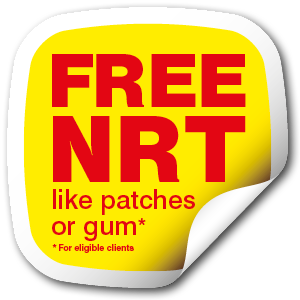 FREE NRT - like patches or gum for eligible clients