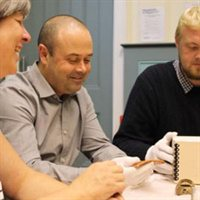Adult learning workshop at the Museum of Wigan Life