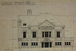 Original plans for Leigh Town Hall