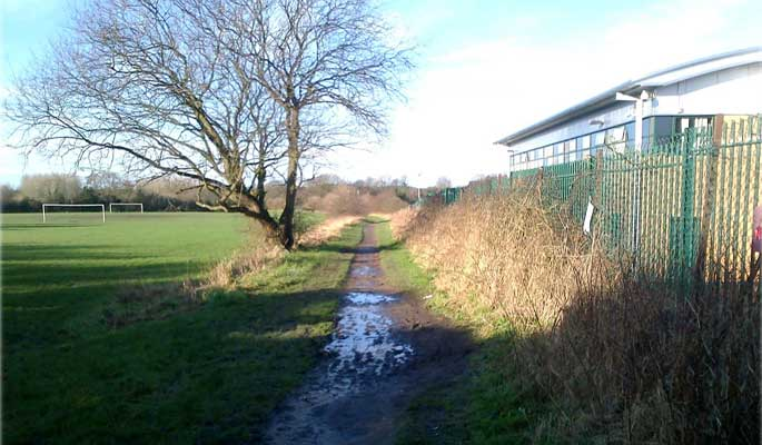 Standish Mineral Line - muddy footpath through the field